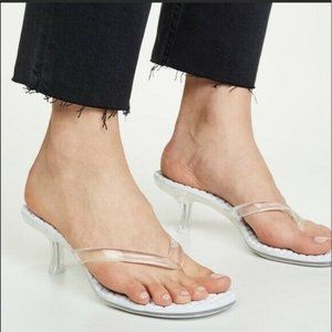 Jeffrey Campbell Thong 2 Slide Sandal Clear Faux L